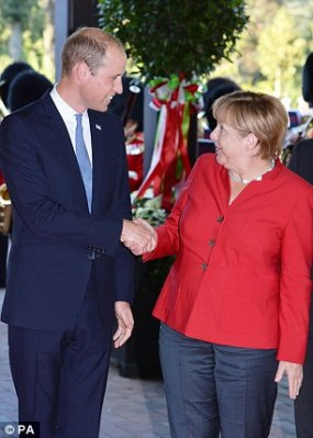 William and Angela Merkel