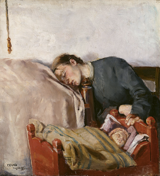 Mother and Child, 1183, Christian Krohg, National Gallery, Norway